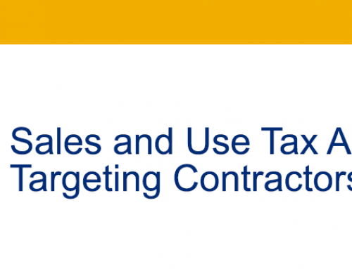Sales and Use Tax Audits Targeting Contractors